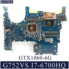 KEFU Laptop motherboard for ASUS ROG G752VS original mainboard CM236 I7 6700HQ GTX1060 6G