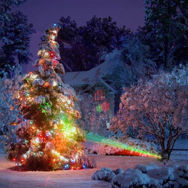 Christmas latest design pattern Waterproof laser lawn lamp courtyard lawn light laser цена 2017