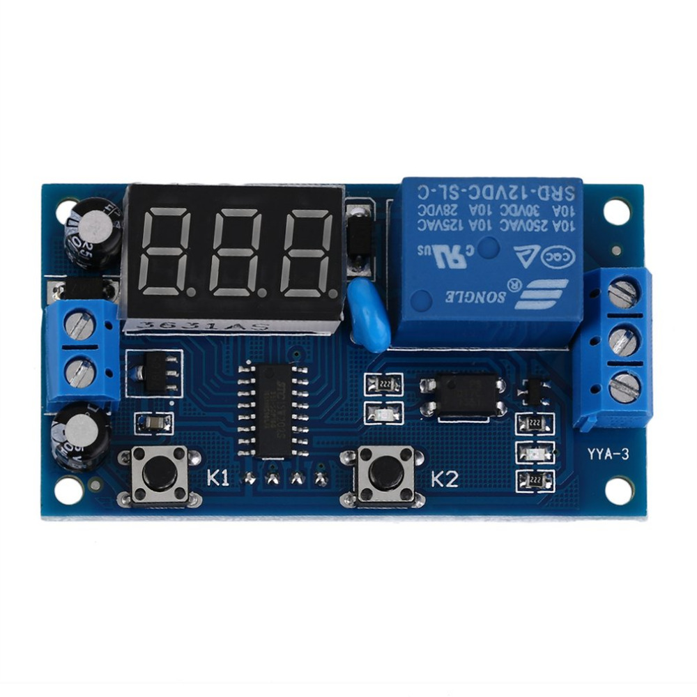 2018 New Electrical Dc 12v Time Relay Module Digital