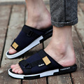 mens shoes summer male casual beach slippers printed canvas gladiator sandals designer flip flops fashion man slides XK020904