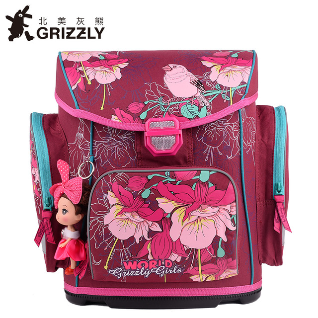 New Russian Style Children School Bags for Girls 3D Flower Print Nylon Waterproof Orthopedic Backpack School Portfolio Grade 3-5 russian phrase book