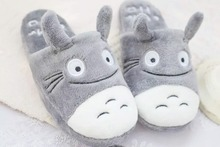 2017 Hot Sale Good Quality lovely Cute Totoro Lovely Cat Men &women Indoor Winter and Spring Warm Cartoon Slippers Sandalias