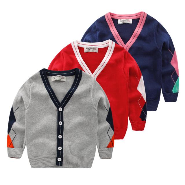 O menino cardigan casaco camisola 2017 nova primavera crianças Coreano crianças bebê camisola cardigan U3963