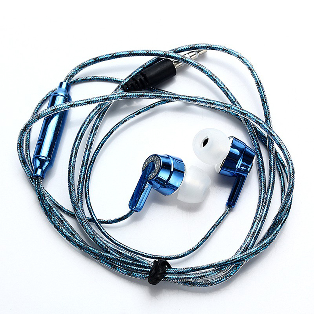 EDAL Wiring Subwoofer Earphone In Ear Headphones Noise Isolating Rope Wired Stereo Earbud Sport Headphone for Phones MP3 MP4