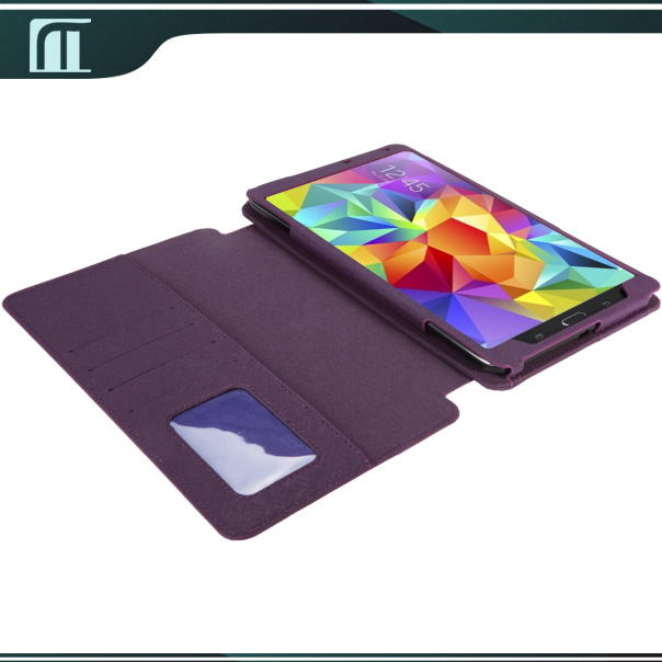 Black Purple Blue Fabric Pu leather Cover Card Slot Case for Samsung Galaxy Tab S 8.4 -Inch Tablet SM-T700 SM-T705 T700 T705