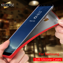 KISSCASE Luxury Silicone Cases For Samsung Galaxy S8 S7 S6 Edge Ultra Thin Smooth Soft Case for Samsung A3 A5 A7 2017 J5 J7 2016