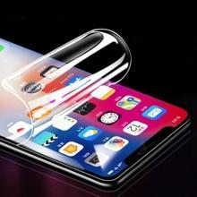 3D Защитная Гидрогелевая пленка для iPhone 11 pro, max, X, XR, XS Max, 6, 6S, 7, 8 Plus, Защитная пленка для экрана, Гелевая пленка с полным покрытием
