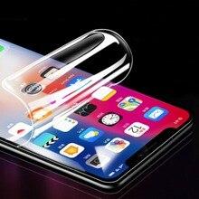 Film Hydrogel protecteur 3D pour iPhone 11 pro max X XR XS Max 6 6S 7 8 Plus Film de protection décran Gel de protection décran couverture complète