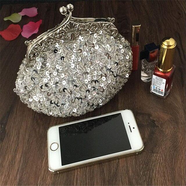2016 New arrival Clutch Purse Silver Crystal Evening Bag Women Wedding Diamantes Party Bridal Handbags Gold Sky Blue WY06