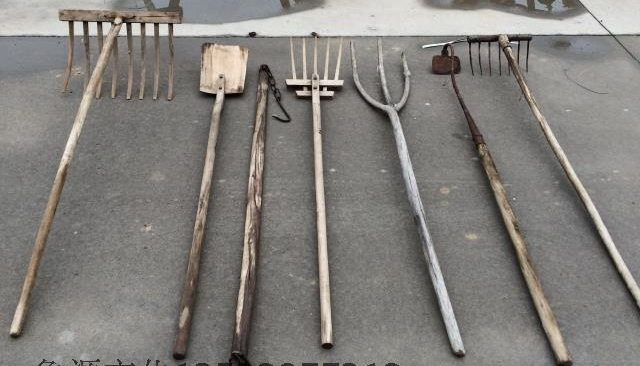 Cheap old farming tools and objects wooden pitchfork pole for Pitchfork tool for sale