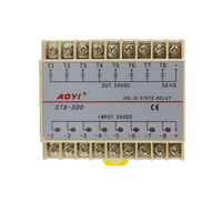 8 Channels DC DC 5A SSR Eight Input 24V DC Output 24V DC Solid State Relay