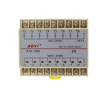 8 Channels DC-DC 5A SSR Eight Input 24V DC Output 24V DC Solid State Relay 2 pcs gj 5fa l dc dc pcb ssr in 3 32vdc out 5 220v dc 5a solid state relay