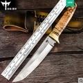 PSRK фиксированный нож с зеркалом D2 лезвие с деревянной ручкой Прямые ножи Походный тактический мини нож Карманный EDC инструменты для выживан...
