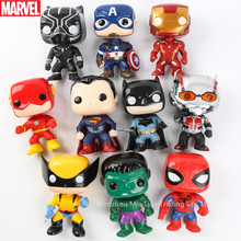 Hasbro Avengers Spider-Man Iron Man Ant-Man Batman Superman The Flash Q version Doll Model toys