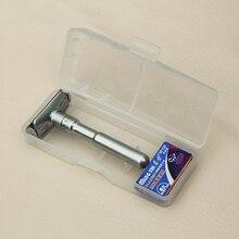 MINGSHI Full Zinc Alloy Safety Razor For Men Adjustable 1-6 Files Close Shaving Classic Double Edge Razors +5 blades+1box
