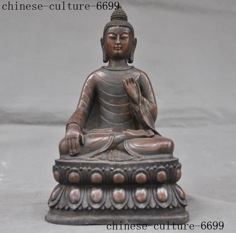 Noël thaïlande bouddhisme bronze assis lotus Sakyamuni Shakyamuni Amitabha bouddha statue halloween