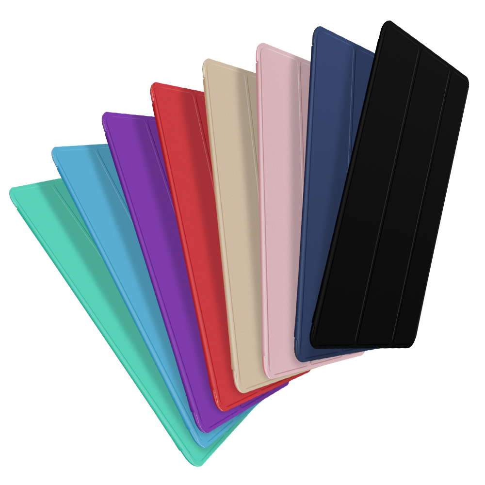 Case For Ipad 2017 2018,Soft Silicone Back Smart Cover Full Protection Stand Holder Case For Ipad 9.7 Shockproof And Dustproof