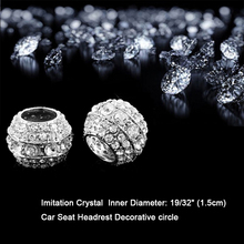 Universal Crystal Car Seat Headrest Collar Charm Rhinestone Accessory style 4pcs/lot