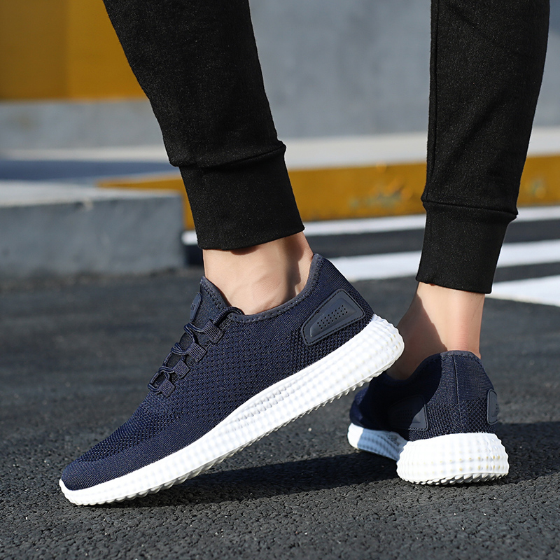 Casual Homme Hommes Noir Chaussure Grande Lumière Sneakers Hemmyi Respirant Automne 47 48 Krasovki Confortable rouge bleu Chaussures Taille ACqnEzx45