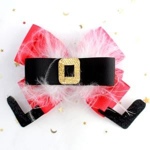 Image 2 - Adogirl świąteczne klipsy do włosów cekiny reniferowe rogi warstwowe kokardy do włosów dla dziewczynek Fashioin Xmas ozdoby do włosów imprezowe Boutique akcesoria