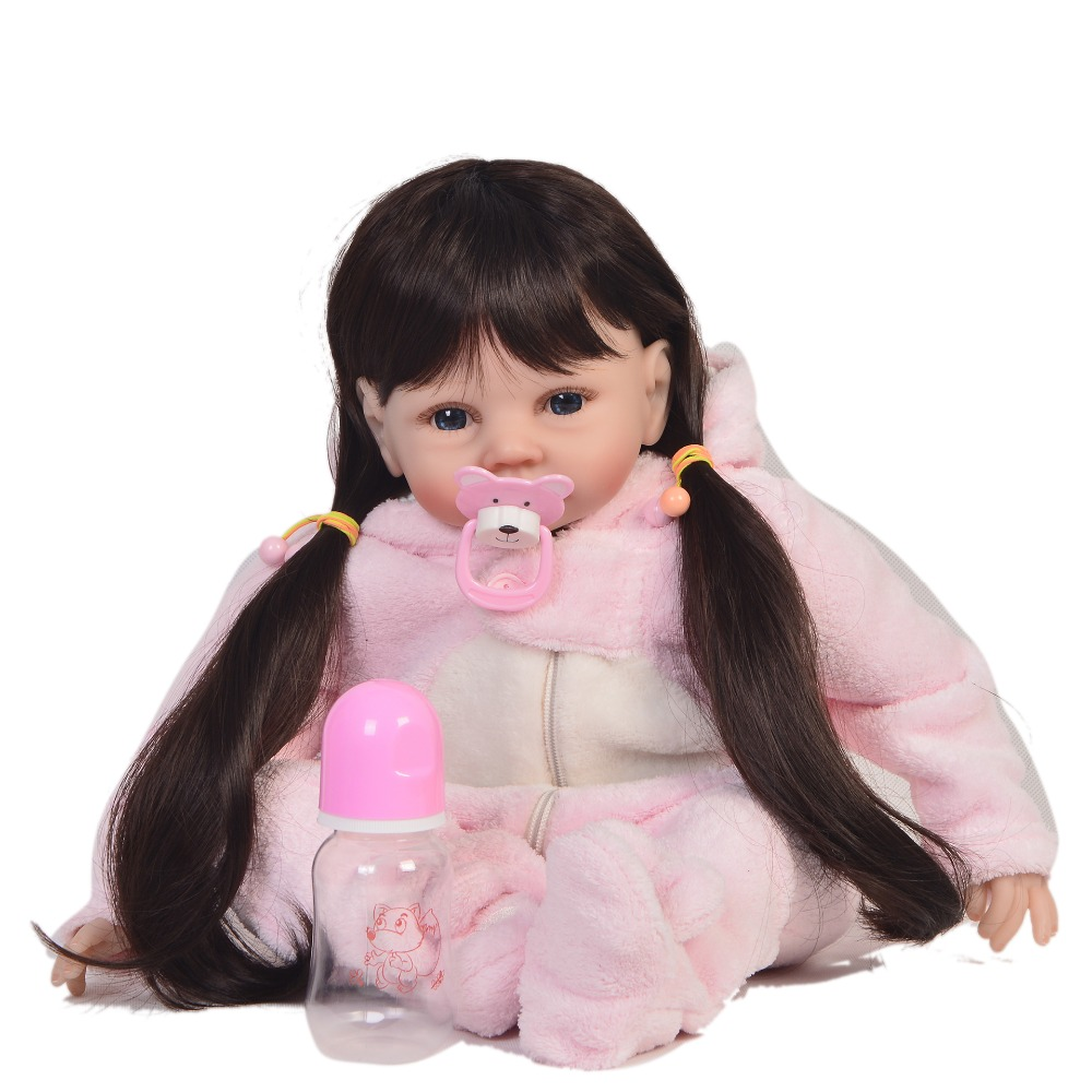 KEIUMI 22'' Inch Reborn Dolls DIY Toy For Girl Playmates Realistic Soft Silicone Vinyl Reborn Baby Dolls Newborn bebe XMAS Gifts-in Dolls from Toys & Hobbies    3