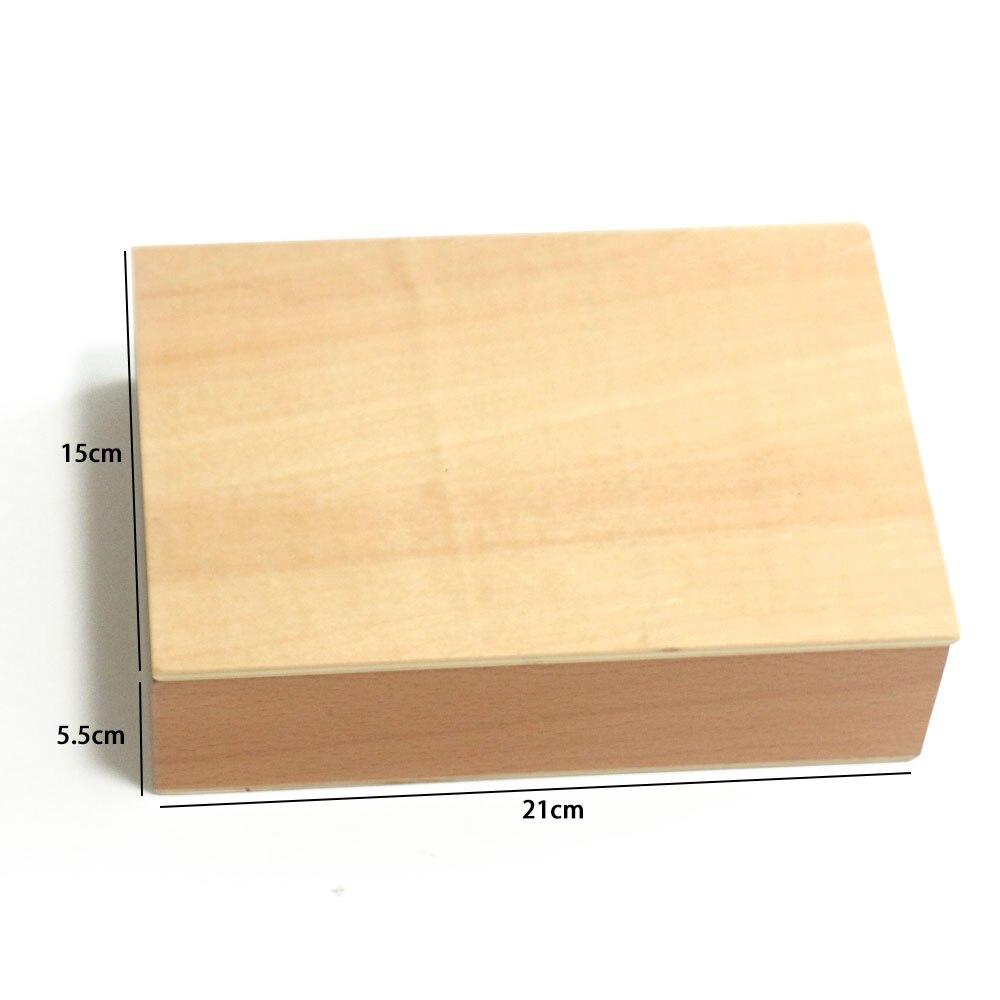 Montessori jouets éducatifs en bois solide géométrie bloc préscolaire en bois Montessori jouets d'apprentissage pour 2 3 4 ans B1667T - 6