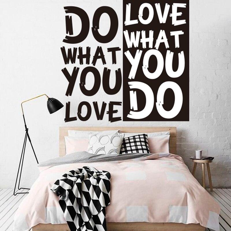 Udělejte, co máte rádi Nástěnná nálepka motivační citát Nástěnná nálepka vystřižená vinylová odnímatelná nálepka na zeď inspirativní kreativní nabídka výzdoba