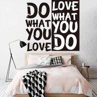 Ne yapmak Aşk Duvar Sticker Motivasyon Alıntı Duvar Sticker Cut Vinil Çıkarılabilir Duvar Çıkartması İlham Yaratıcı Alıntı Dekor