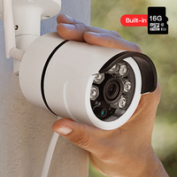 SDETER Outdoor Waterproof Bullet Wireless Security IP Camera Wifi Built In 16G Memory Card Night Vision