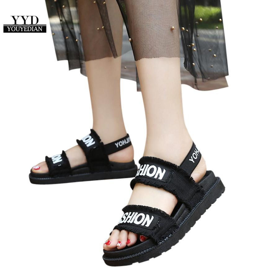 YOUYEDIAN (Ship from RU)Summer Gladiator Women Flat Fashion Shoes Casual Occasions Comfortable sandalias mujer 2018 #A30 1