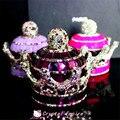 2017 Piedras Preciosas Diamante Corona Ornamento Interior Car Styling Auto Ambientador Asiento Del Perfume Del Coche Botella de Perfumes 100 Mujeres Originales
