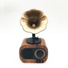 Portable Bluetooth Speaker Retro Mini Wireless Radio USB/TF Card Music Player HIFI Subwoofer