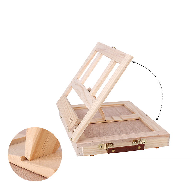 Multifunction Painting Easel Artist Desk Easel Portable Miniature Desk Light Weight Folding Easel For Storage Or During Trips 4