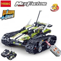 Decool Technic 2in1 TeleControl RC TRACKED RACER Model Figure Blocks Construction Building Toys For Children Christmas Gift
