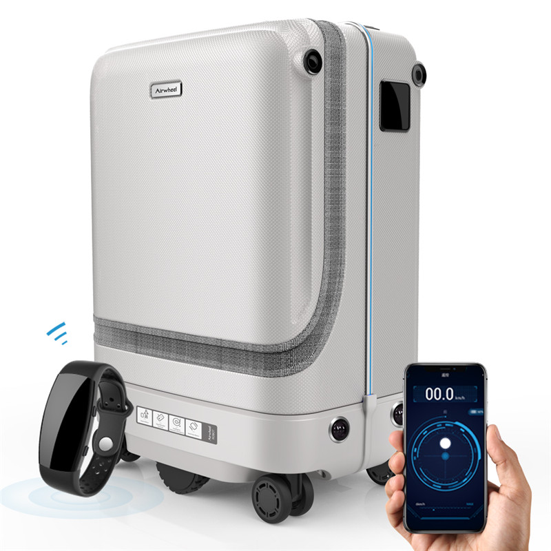 SR5 Auto-following Luggage With Smart Bracelet Emotely Controllable Case Intelligent Electric Suitcase Bag Automatic
