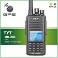 Original de Rádio Em Dois Sentidos VHF À Prova D' Água DMR Digital Walkie Talkie TYT MD-390 Digital Radio 1000CH Transceptor Digital com GPS