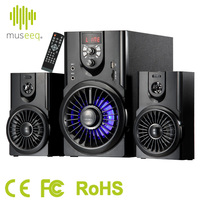 Museeq Bluetooth 2.1 Channel Multimedia Speakers + Subwoofer with LED Display and Lighting, Remote Control