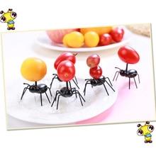 12 шт. DIY Мини Cos вилка для фруктов в форме муравья пластиковая декоративная кухонная барная детская Десертная Вилка столовая посуда животные еда выбрать ant toot