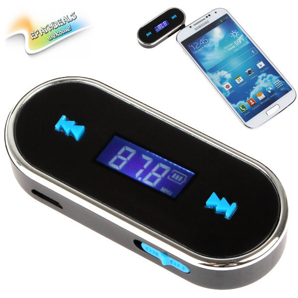 portable wireless vehicle auto car fm transmitter. Black Bedroom Furniture Sets. Home Design Ideas