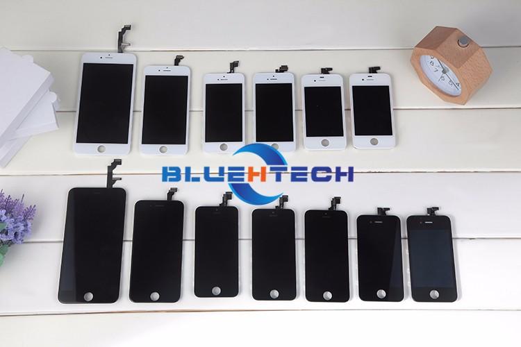 Dla iphone 4s ekran wyświetlacz lcd ekran dotykowy digitizer zgromadzenie części zamienne telefon lcd lcd do telefonów komórkowych/czarny biały 7