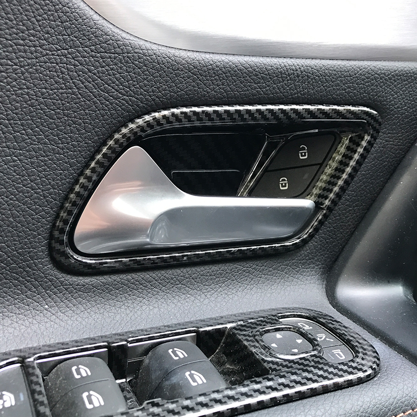 For <font><b>Mercedes</b></font> Benz A CLA Class W177 C118 A180 A200 A220 <font><b>CLA200</b></font> Interior <font><b>Door</b></font> <font><b>Handle</b></font> Stickers Trim Cover Accessories Car Styling image