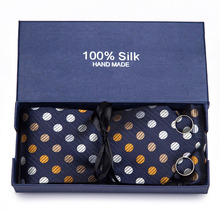 Mens Ties  40 Styles Tie Hanky Cufflink Set Business Gift For Men Shirt Accessories for Free Shipping