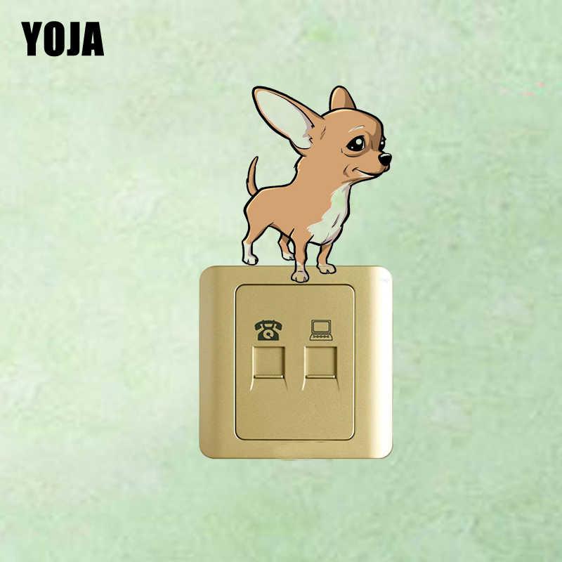 YOJA Chihuahua Köpek PVC Çocuk Odası Yatak Odası Dekor Duvar Sticker Renkli Anahtarı 8SS0302