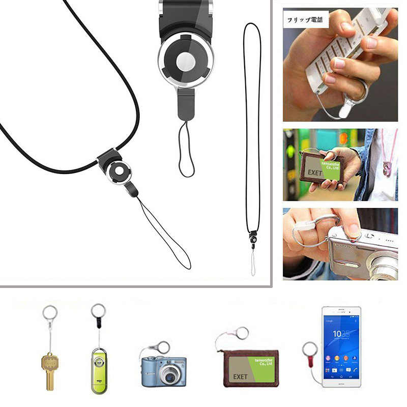 Keychain Cell Mobile Phone Camera Neck Lanyard Strap key cord neck Ring Holder Mobile Phone hangs neck braces lanyard neckband