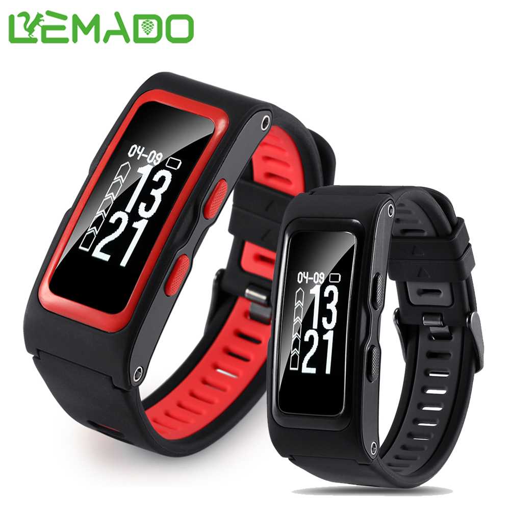 Lemado Smart Band Independent GPS Track Record Temperature Altitude Heart Rate Wristband Fitness Tracker Sport Bracelet