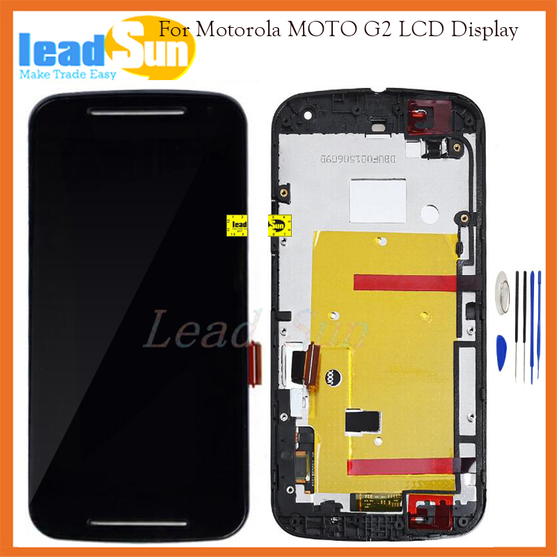 10/pcs Free EMS DHL shipping Replacement for Motorola Moto G2 XT1063 XT1064 XT1068 Lcd display with touch screen digitizer+frame  цены