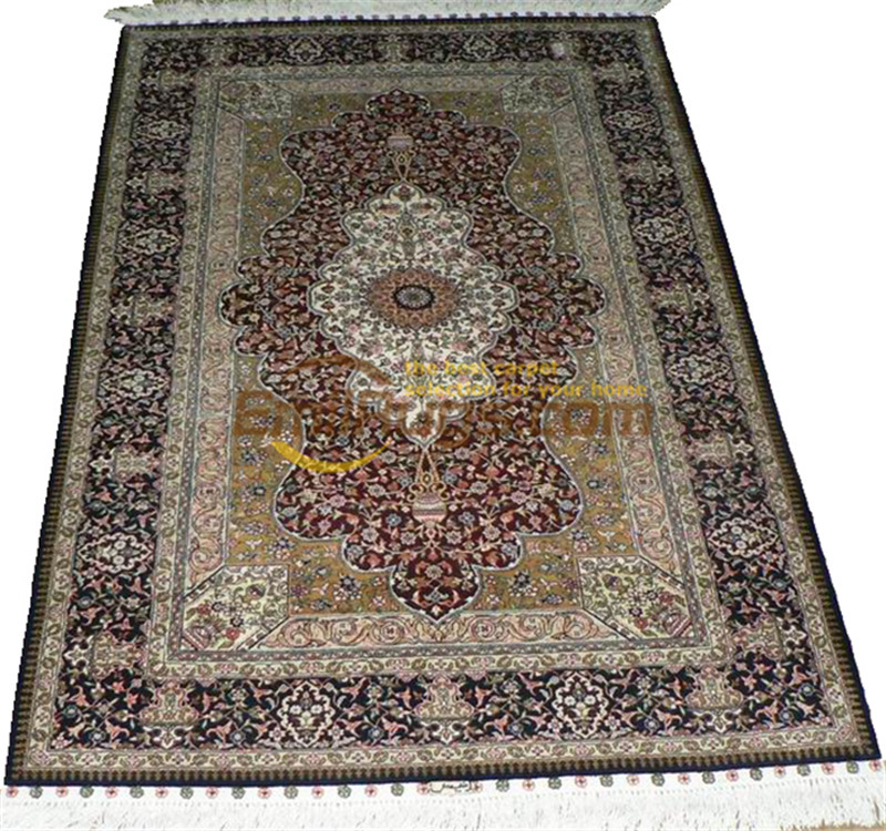 Laine ou soie persan grand Style Vintage décor à la maison pour salon laine tapis tapis tapis traditionnel - 4