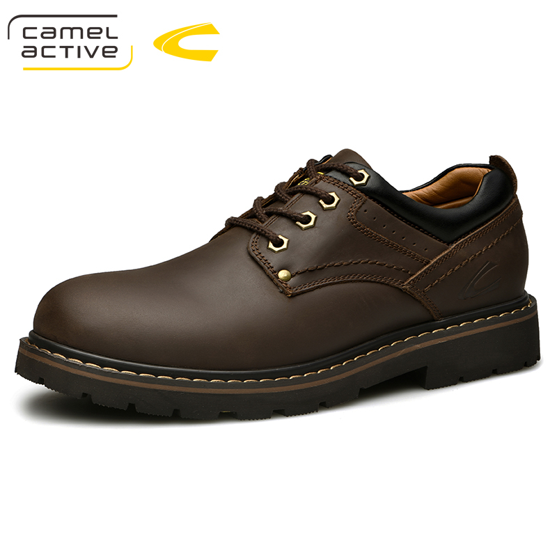 Camel Active New Men Shoes Comfortable Men Casual Shoes Handmade Outdoor Sneakers Cow Leather Men Flats Flats Walking Footwear