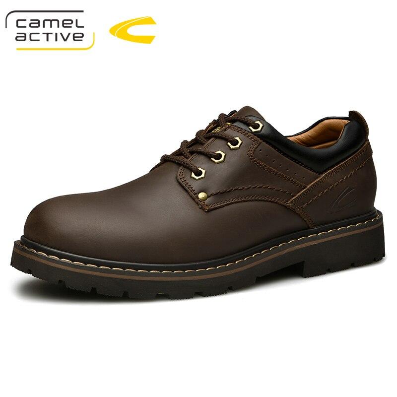 Camel Active New Men Shoes Comfortable Men Casual Shoes Handmade Outdoor Sneakers Cow Leather Men Flats Flats Walking Footwear