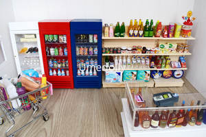 Miniature Dollhouse Accessories Store-Doll Play Food-Drink-Decor Supermarket 1/12-Scale